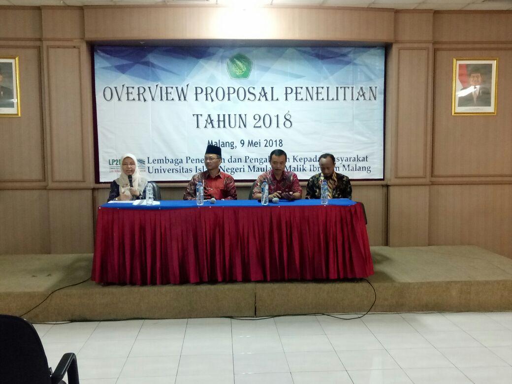 Data Pendukung Overview Penelitian 2018 LP2M UIN Malang
